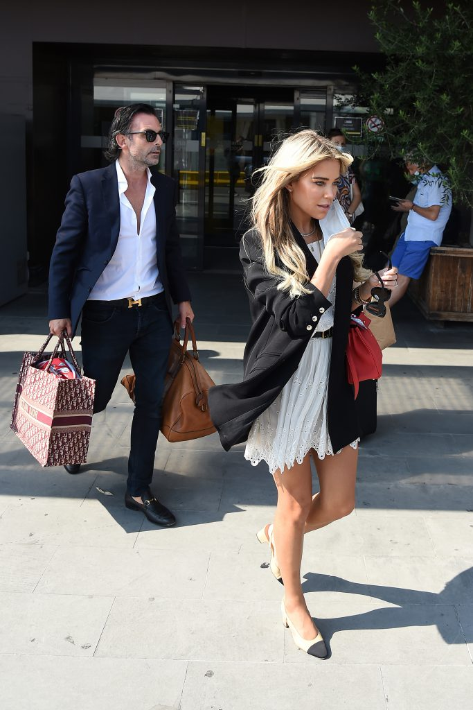 Sylvie Meis And Niclas Castello Arrive In Florence For Their Wedding